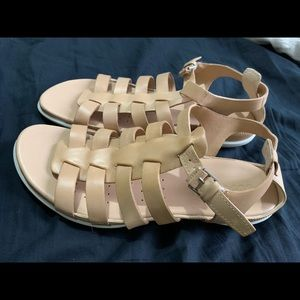 Tan Ecco gladiator sandals